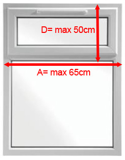 Image of maximum sizes for Flat cats top opener